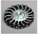 扭平带螺母twist knot circular brush with nut